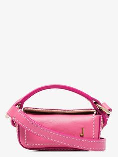 Jacquemus 'le Nani' Top Handle Micro Leather Lipstick Bag In Pink Jacquemus Bag, Thing 1, Brown Fashion, Pink Leather, World Of Fashion, Luxury Branding, Shoulder Strap, Women Wear, Colors