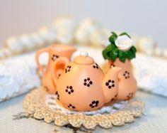 http://www.ebay.com/itm/Tea-with-Milk-Handmade-Dollhouse-Miniature-polymer-clay-/322298826662?ssPageName=STRK:MESE:IT #dollhouseminiature #polymerclay #teatime
