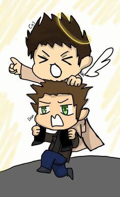 Dean and Cas #Supernatural  TMCDDT art