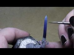 ▶ How to paint power weapons with lightning effects - YouTube #Warhammer #painting