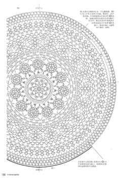 circle shawl diagram - thinking this would be a fun pattern if I ever made a…