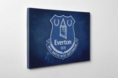 Everton Canvas and Print Handmade Wall Art by CanvasSpecialists Everton Badge, Everton Fc, Crest Logo, Union Jack, Basement, Flag, Wall Art, Canvas, Creative