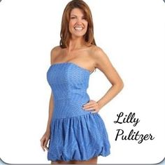 Lilly Pulitzer Sexy Bubble Strapless Dress #D1