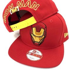 6ee2aec4b Iron Man New Era MARVEL Comics Block Back Authentic 9FIFTY 950 Snapback Hat  Cap