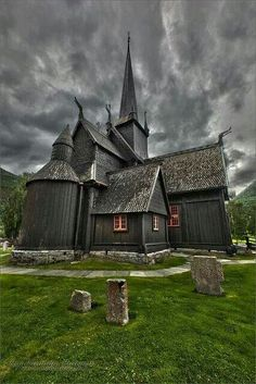 It's in Lom, Norway (one of the last stave churches in Norway) : http://www.pinterest.com/pin/528821181218689334/ -- http://www.flickr.com/photos/15424588@N04/4843539374/in/pool-48889102123@N01/