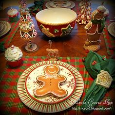 Gingerbread theme tablescape