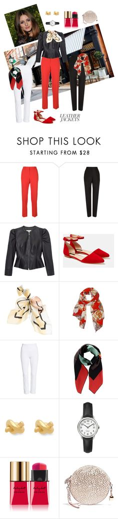 """Jacket: Black, Red, White"" by henleysc ❤ liked on Polyvore featuring Givenchy, Balenciaga, Rebecca Taylor, Lafayette 148 New York, White House Black Market, Humble Chic, Lyssé Leggings, Fendi, Kate Spade and Yves Saint Laurent"