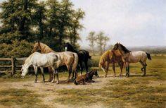 Horses  by Willem Nakken  Giclee Canvas Print Repro