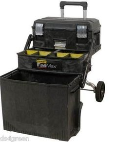 Stanley Fatmax Multi Level Mobile Rolling Workshop Tool Storage Box On  Wheels