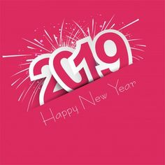 Beautiful happy new year 2019 text background Free Vector Minnie Png, Free Brochure, Therapy Quotes, Free Banner, New Year Designs, New Year Images, Text Background, Happy New Year 2019, Calendar Design