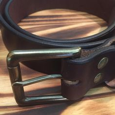 """1 hour left to pick up an 1.5"""" dark brown belt for only $35."""