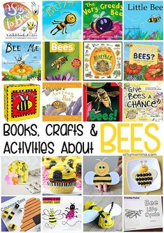 This post is a mini tribute to bees because they are just so smart and cool. We have a great list of activities, crafts and books about bees. Toddler Books, Childrens Books, Preschool Books, Preschool Science, Science Education, Life Science, Bees For Kids, Bee Activities, Toddler Activities