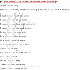 Dixie Chicks chords / lyrics