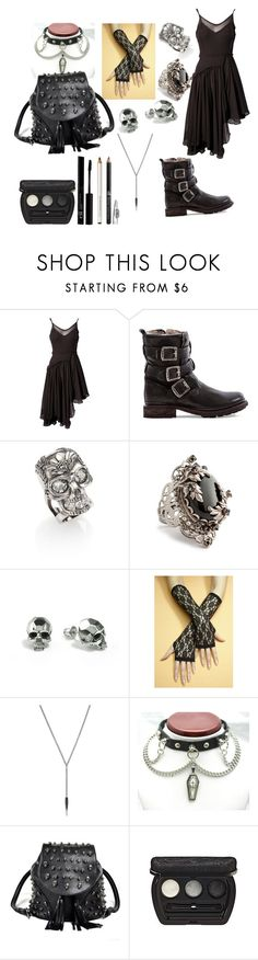 """""""Untitled #257"""" by singingsiren39 ❤ liked on Polyvore featuring Religion Clothing, Frye, Alexander McQueen, Juicy Couture, Kasun, Retrò, BCBGeneration and Laura Geller"""