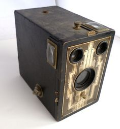 Kodak Box Camera 616  Art Deco  Black and by BitsAndPiecesEtc, $20.00; My sister has this camera that used to belong to my Grandparents, Ninie and Poppy (Ralph Sr. and Inez Irvine)