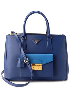 Prada Saffiano Lux Bicolor Leather Top-Handle Bag is on Rue. Shop it now.
