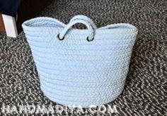 Beach bag ---------- Пляжная сумка. DIY step-by-step tutorial. http://www.handmadiya.com/2014/06/blog-post_856.html