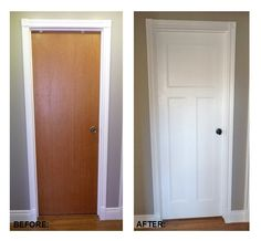 How To Replace Interior Doors : A very thorough tutorial on installing new doors and door knobs. #DIY #AdoreYourDoors