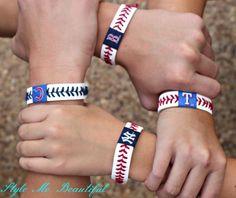 Items similar to Baseball Bracelet on Etsy Baseball Treats, Baseball Buckets, Sports Baseball, Baseball Clothes, Baseball Stuff, Softball, Soccer, Chicago White Sox, Boston Red Sox