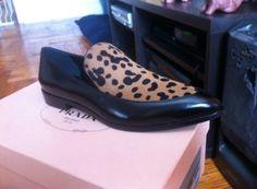 Prada black + cheetah print loafer on SNOBSWAP https://snobswap.com/listings/view/16933