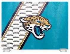 Jacksonville Jaguars Tempered Glass Cutting Board