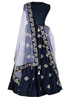 E-cloth Women's Taffeta Anarkali Lehenga Choli(Pinky_Blue_Blue_Free size) anarkali lehenga choli Cotton Lehenga, Anarkali Lehenga, Lehenga Choli Online, Silk Lehenga, Lehenga Suit, Blue Lehenga, Salwar Suits, Indian Bridal Wear, Indian Wedding Outfits