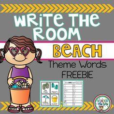 Write the Room - Beach Theme Words - FREEBIE by KinderMyWay | Teachers Pay Teachers