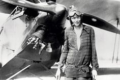 American aviator, Amelia Earhart, was the first person to fly across the Pacific from Honolulu, Hawaii to Oakland, California, 11 Jan 1935. Attempting to fly around the world, on 01 Jun 1937, Earhart and her navigator, Fred Noonan, departed from Miami with great fanfare. She disappeared on 2 Jul 1937.