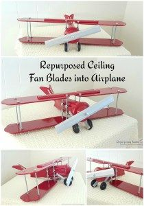 Repurposed Ceiling Fan Blades into airplane