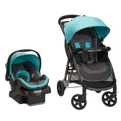 """Safety 1st Step and Go Travel System Stroller - Minty Fresh - Safety 1st - Babies """"R"""" Us"""