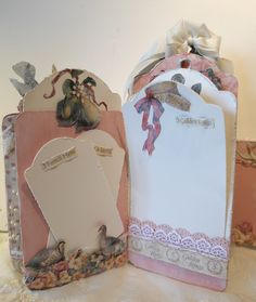 G45 The Twelve Days of Christmas mini album- romantic and soft staples tag mini album. Tag serial 1