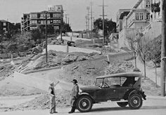 Lombard Street, San Francisco, CA Circa 1930 Lombard Street, San Francisco City, San Francisco California, California Dreamin', Northern California, Beautiful Places To Visit, Great Places, Places To Go, North Beach