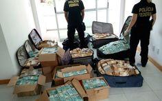 Dinheiro foi encontrado em apartamento em Salvador (Foto: Polícia Federal)