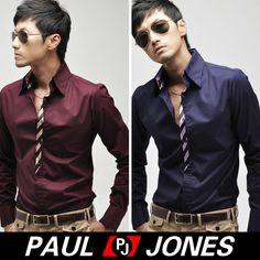 P&J 2012 Korean Fashion Men's Leisure Casual Dress Shirts COOL IN 2colors+3size