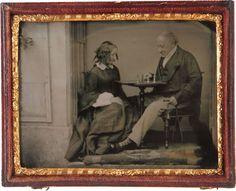 ca. 1860, [chess players]