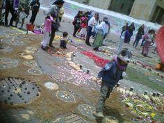 Mándala por la tierra y la semilla tradicional , BOGOTA COLOMBIA .plaza de bolivar . 1 sept 2013. by dramzc :.