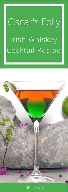 This vibrantly layered Irish whiskey cocktail celebrates Saint Patrick's Day in all of its glory.  #whiskey #irishwhiskey #irish #stpatricksday #absinthe #aperitivo #liqueur #cocktail #cocktailrecipe
