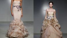 Vestidos de novia de color champagne Vera Wang