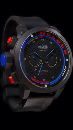 Welder K31 2601 Black Blue Red Chronograph