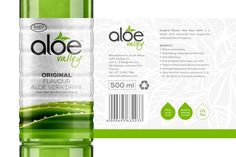 Aloe Valley Drinks on Packaging of the World - Creative Package Design Gallery Beverage Packaging, Food Packaging, Brand Packaging, Label Design, Package Design, Aloe Drink, Natural Aloe Vera, Beverages, Drinks