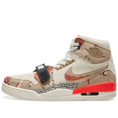 Buy the Air Jordan Legacy 312 in Sail, Desert Camo & Infrared from leading mens fashion retailer END. - only Fast shipping on all latest Nike Jordan products Camo Fashion, Mens Fashion, Designer Sneakers Mens, Desert Camo, Shoe Game, Camouflage, Safari, Air Jordans, Sneakers Nike