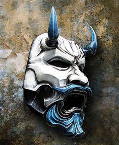 Mask - Japanese - Uncle Oni Mask 311 Japanese Noh Style Fiberglass 3 by TheDarkMask