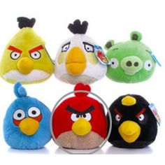 PELUCHE ANGRY BIRDS 15 cms ROJO *CALIDAD*