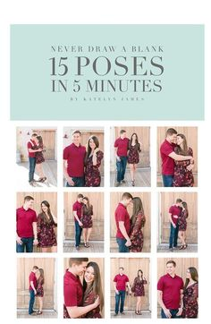Portrait Photography Inspiration Picture Description 15 Poses in 5 Minutes Engagement Photo Poses, Engagement Couple, Engagement Pictures, Wedding Photo Poses, Rustic Engagement Photos, Fall Engagement, Wedding Photoshoot, Poses Photo, Picture Poses