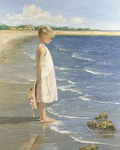 The forgotten Studio: The Beach with Sally Swatland and . Ocean Artwork, Sea Art, Paintings I Love, Beach Scenes, Beach Girls, Acrylic Art, Strand, Sally, Painting & Drawing