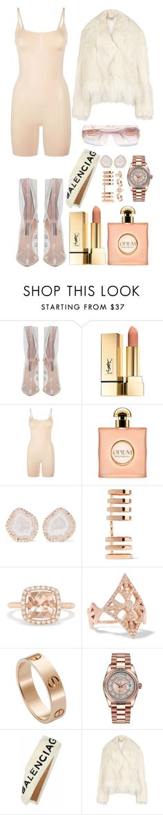 """""""Untitled #3495"""" by fashionhypedaily ❤ liked on Polyvore featuring SPANX, Yves Saint Laurent, Kimberly McDonald, Repossi, Effy Jewelry, Carbon & Hyde, Cartier, Rolex, Balenciaga and STELLA McCARTNEY"""