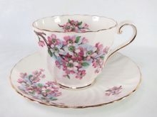 Aynsley Cherry Blossom Tea Cup & Saucer Set