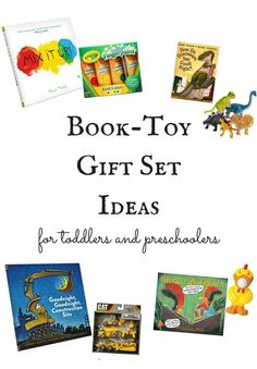 Book-toy matches that make great gift ideas for toddlers and preschoolers!