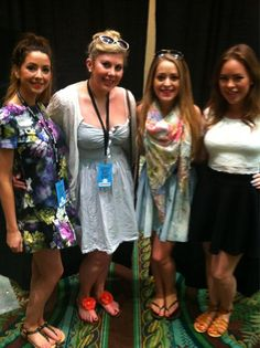 Zoe, Louise, Fleur and Tanya before the Beauty Vloggers meetup for Playlist Live in Florida
