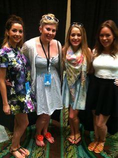 Zoe, Louise, Fleur and Tanya.
